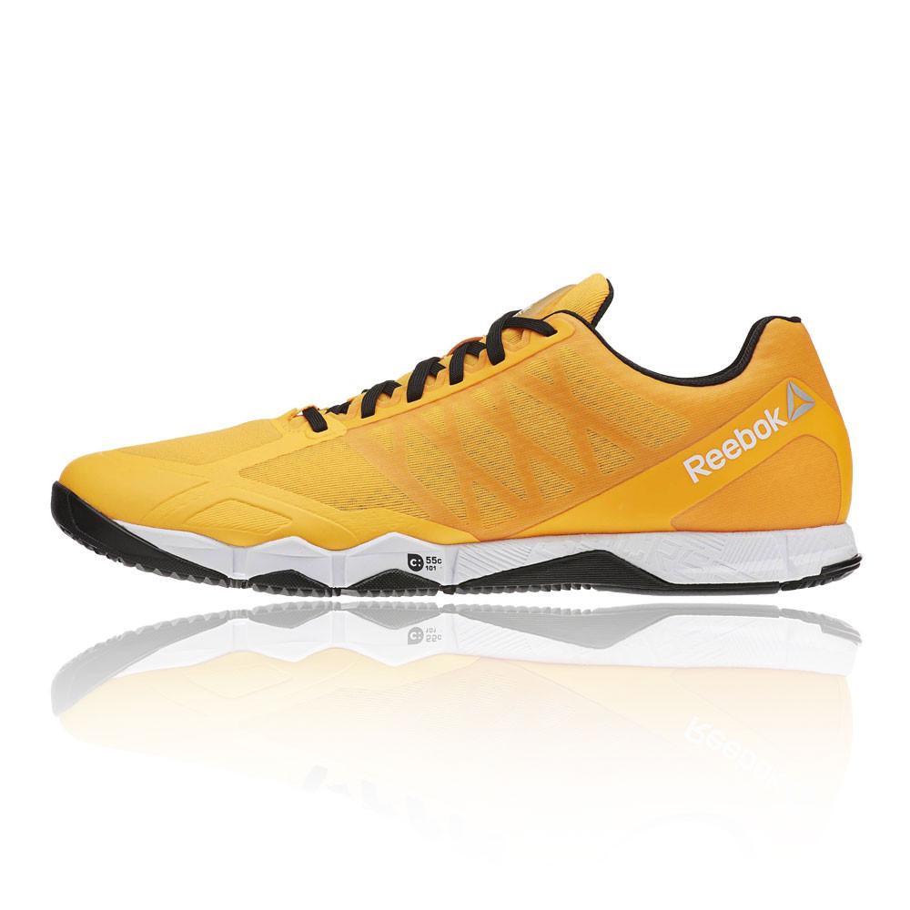 reebok crossfit speed mens orange cross training sneakers