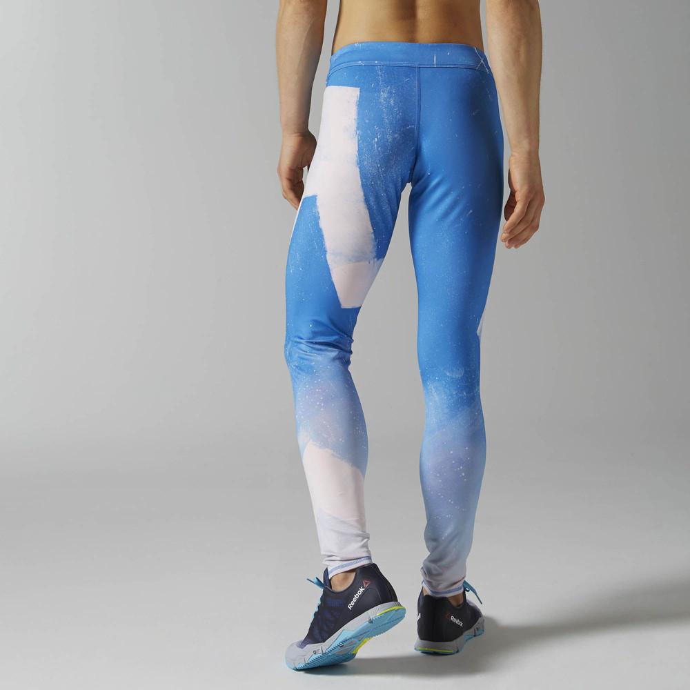 reebok crossfit reversible femme blanc bleu sport long collant legging pantalon ebay. Black Bedroom Furniture Sets. Home Design Ideas