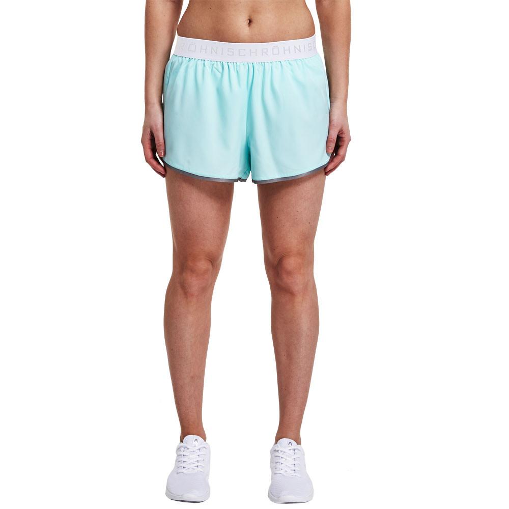 rohnisch hannah damen kurze hose sporthose shorts fitnesshose laufhose blau ebay. Black Bedroom Furniture Sets. Home Design Ideas