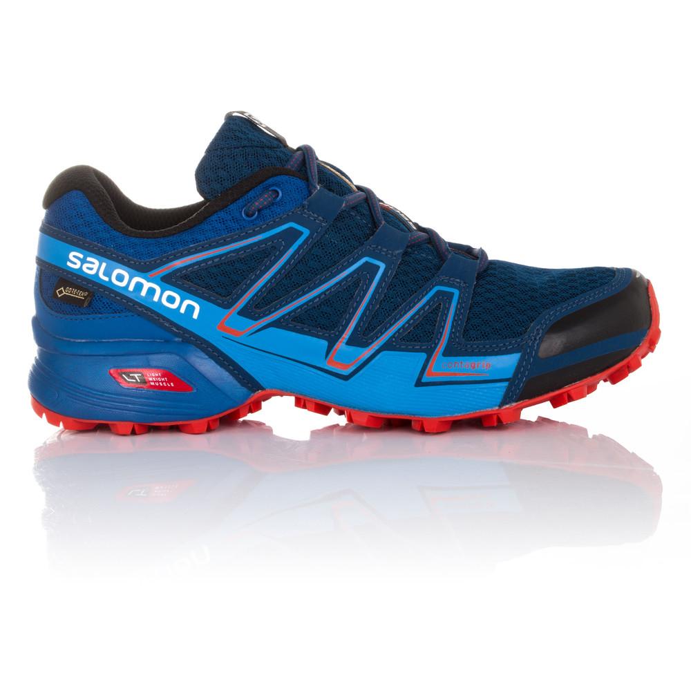 salomon speedcross vario mens blue tex waterproof
