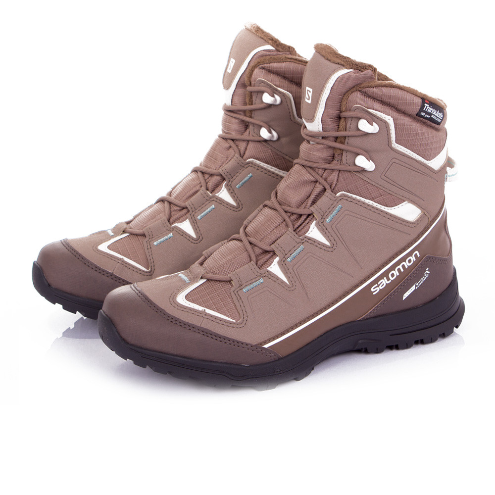 salomon scory ts womens brown grey waterproof winter