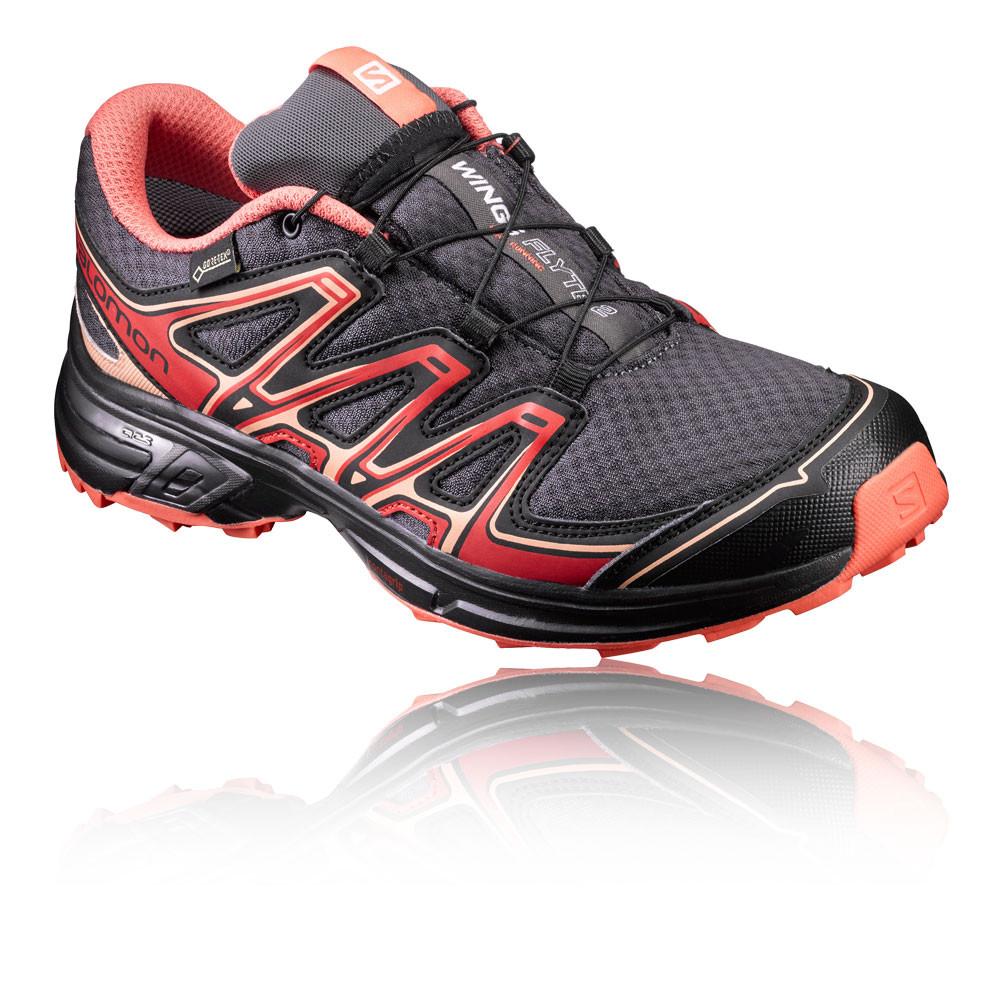 Salomon-Wings-Flyte-2-GTX-Mujeres-Rojo-Gris-Zapatillas-Deportivas-Trail-Running