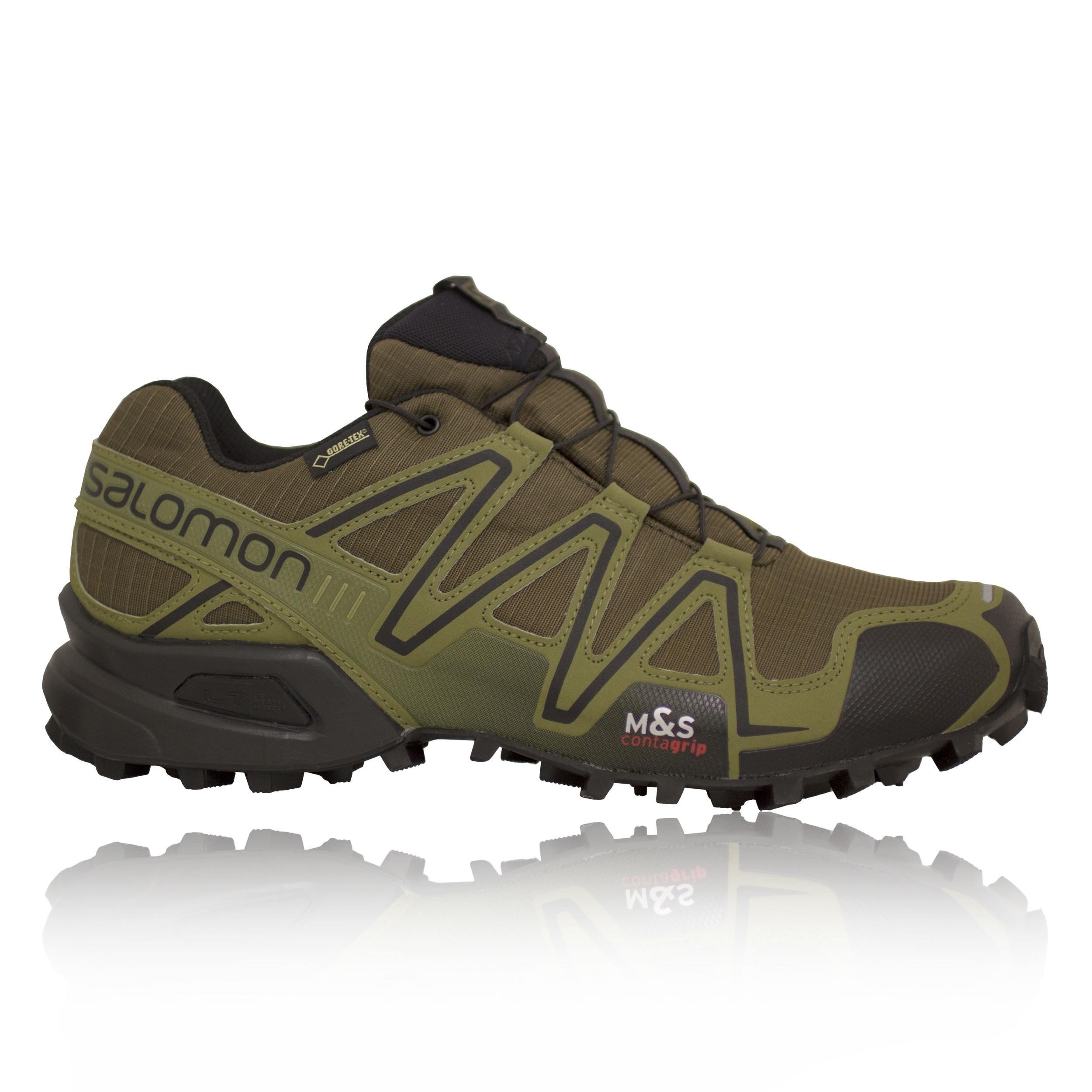 salomon speedcross 3 gtx mens green waterproof training trail running shoes. Black Bedroom Furniture Sets. Home Design Ideas