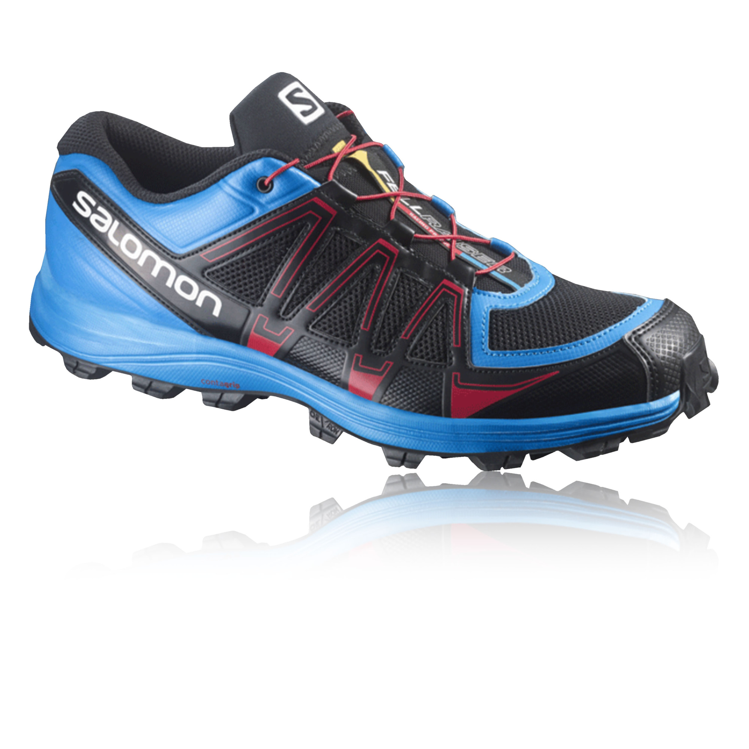 salomon fellraiser fell mens blue black running trainers