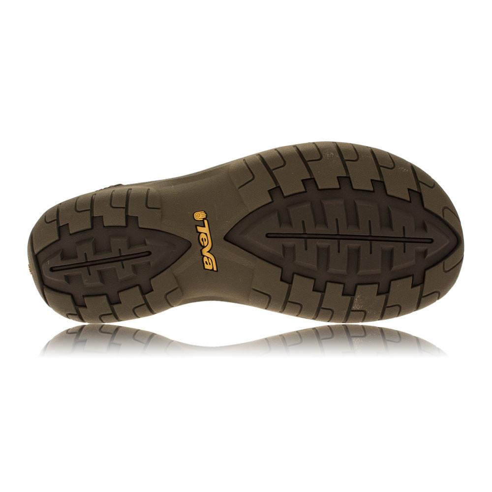 Teva Mens Tanza Brown Leather Spider Original Rubber