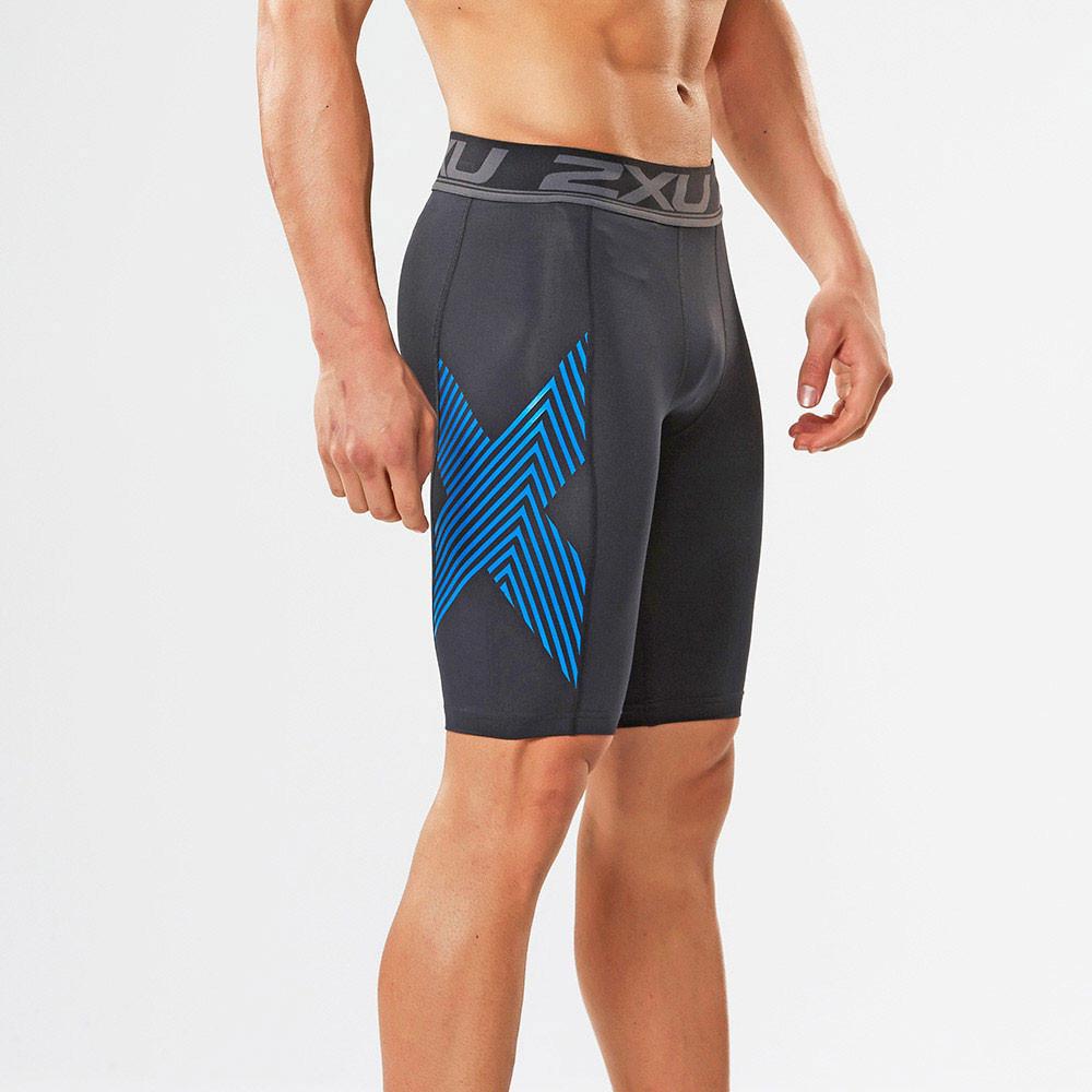 2xu herren kompression kurze hose sporthose shorts sport funktionshose schwarz ebay. Black Bedroom Furniture Sets. Home Design Ideas