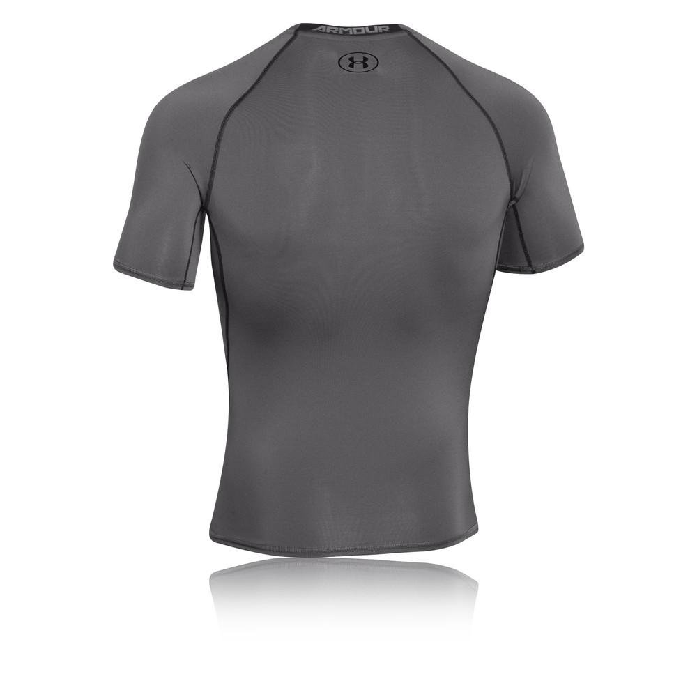 Under armour heat gear armour mens grey short sleeve for Under armor heat gear t shirt