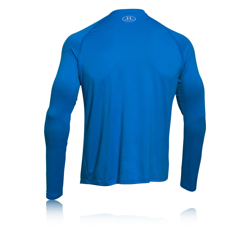 Under armour big logo reflective mens blue long sleeve for Lightweight breathable long sleeve shirts