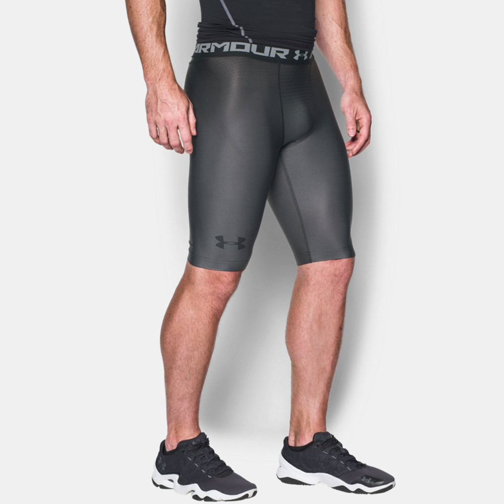 Under Armour Charged Mens Grey Compression Sports Shorts ... Compression Shorts For Men Under Armour