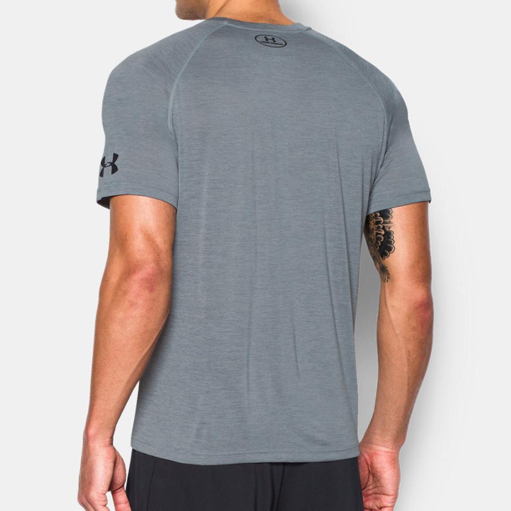 ... Armour Batman Tech Mens Grey Running Short Sleeve Gym T Shirt Tee Top