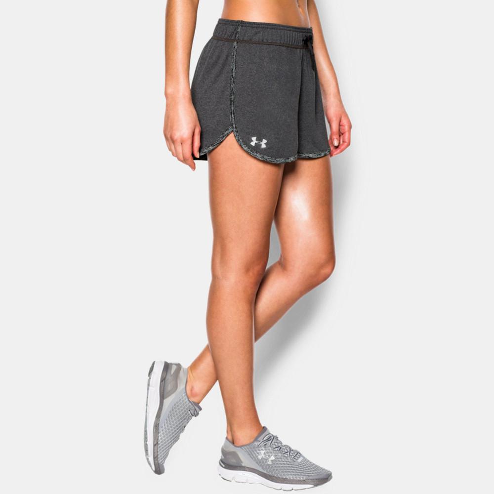 under armour tech womens grey running gym shorts training pants bottoms ebay. Black Bedroom Furniture Sets. Home Design Ideas