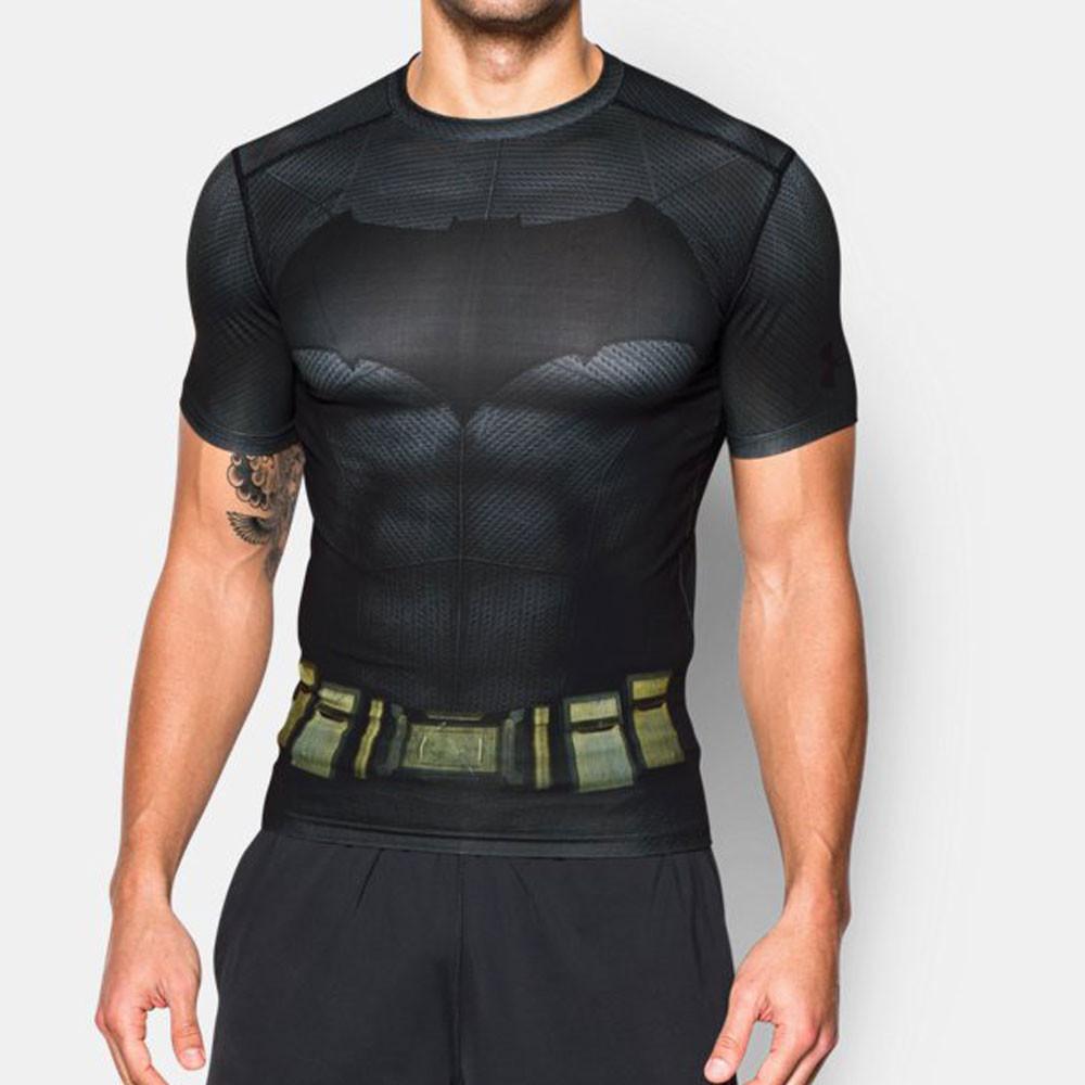 Under armour batman alter ego mens black compression short for Under armour half sleeve shirt