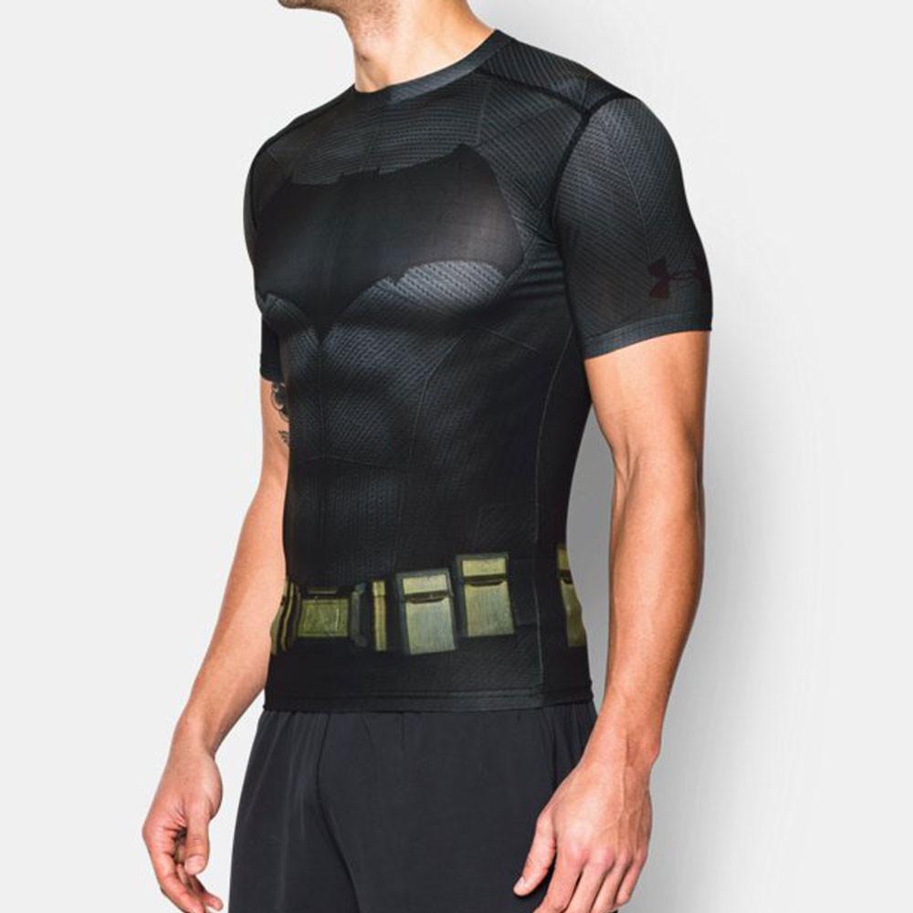 Under armour batman alter ego mens black compression short for Compression tee shirts for men
