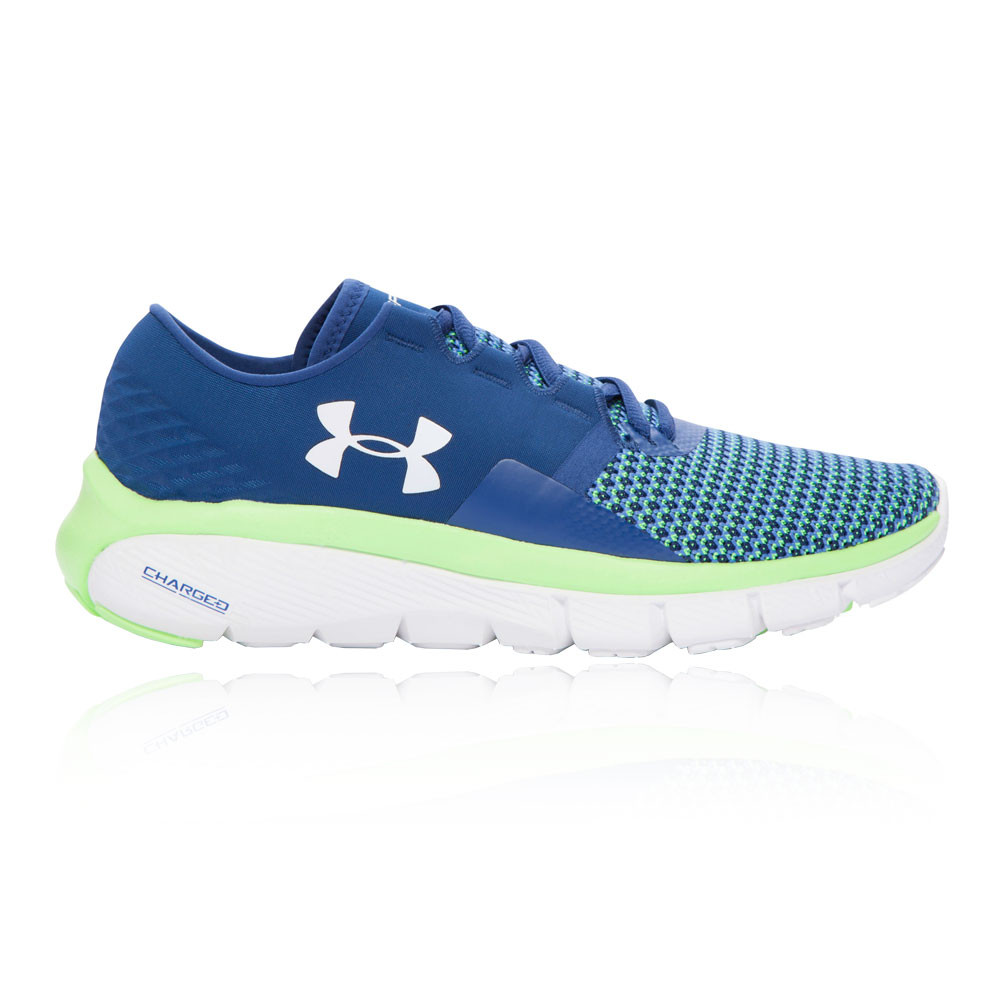 cheap for discount 08491 af6f1 ... Under Armour Speedform Fortis 2 Mujer Azul Acolchado Correr Zapatos  Zapatillas ...