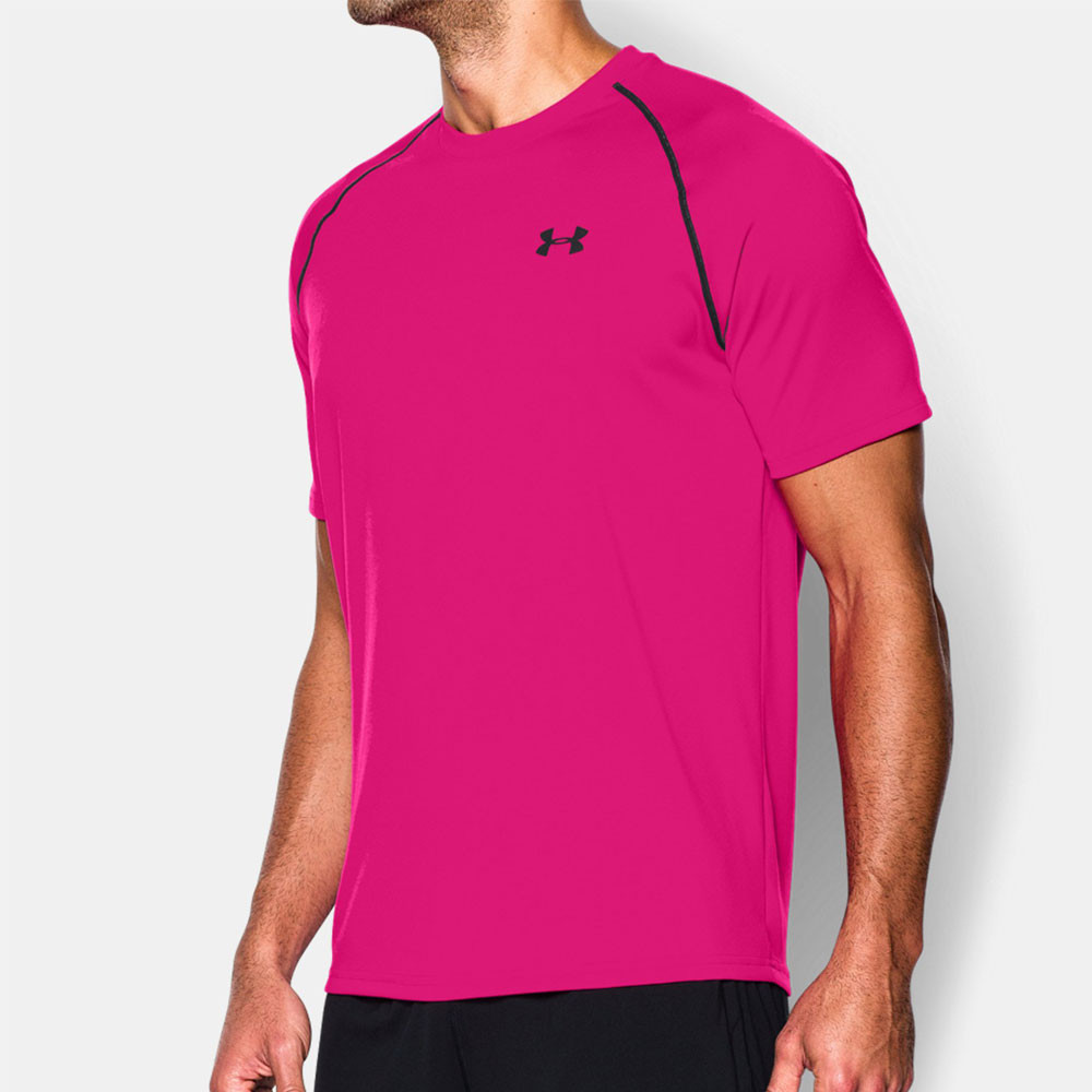Under armour tech mens purple short sleeve running gym t for Under armour men s tech short sleeve t shirt