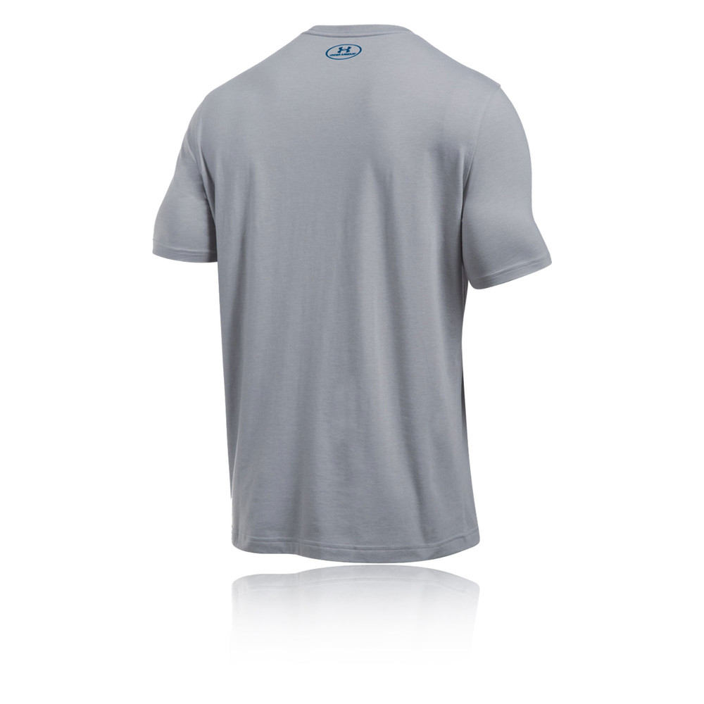 Under Armour Sportstyle Mens Grey Logo Short Sleeve Sports