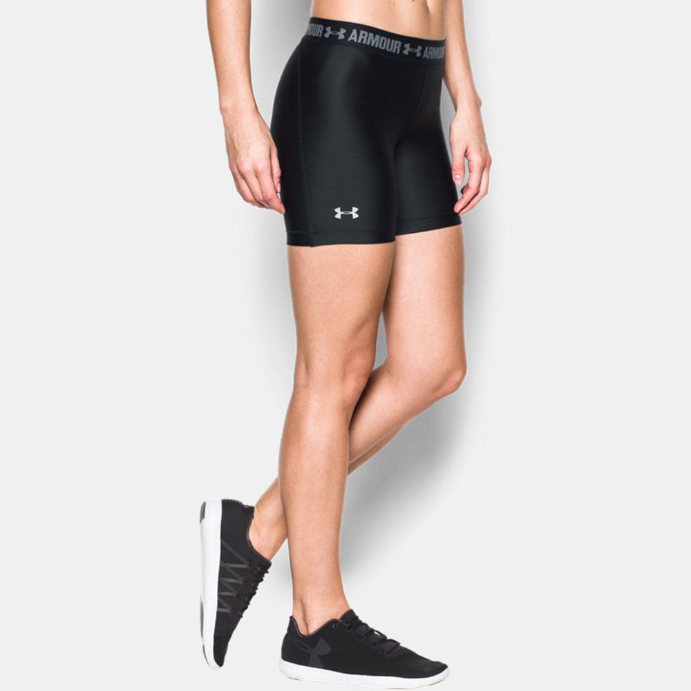 under armour heatgear middy damen shorts kurze hose. Black Bedroom Furniture Sets. Home Design Ideas