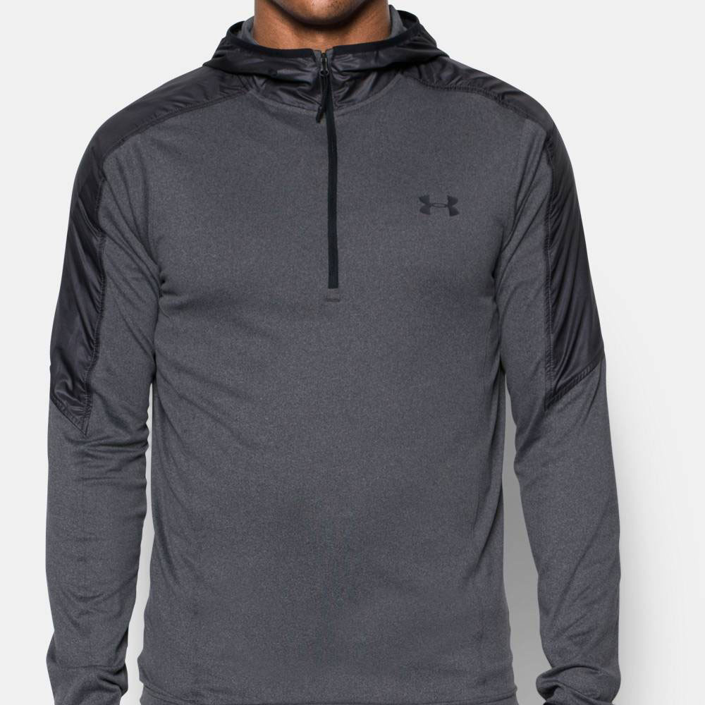 under armour supervent mens grey half zip hoody running. Black Bedroom Furniture Sets. Home Design Ideas