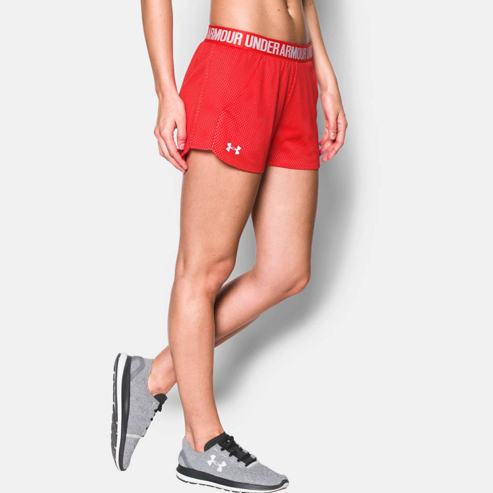 under armour mesh play up damen trainingshose kurze hose. Black Bedroom Furniture Sets. Home Design Ideas