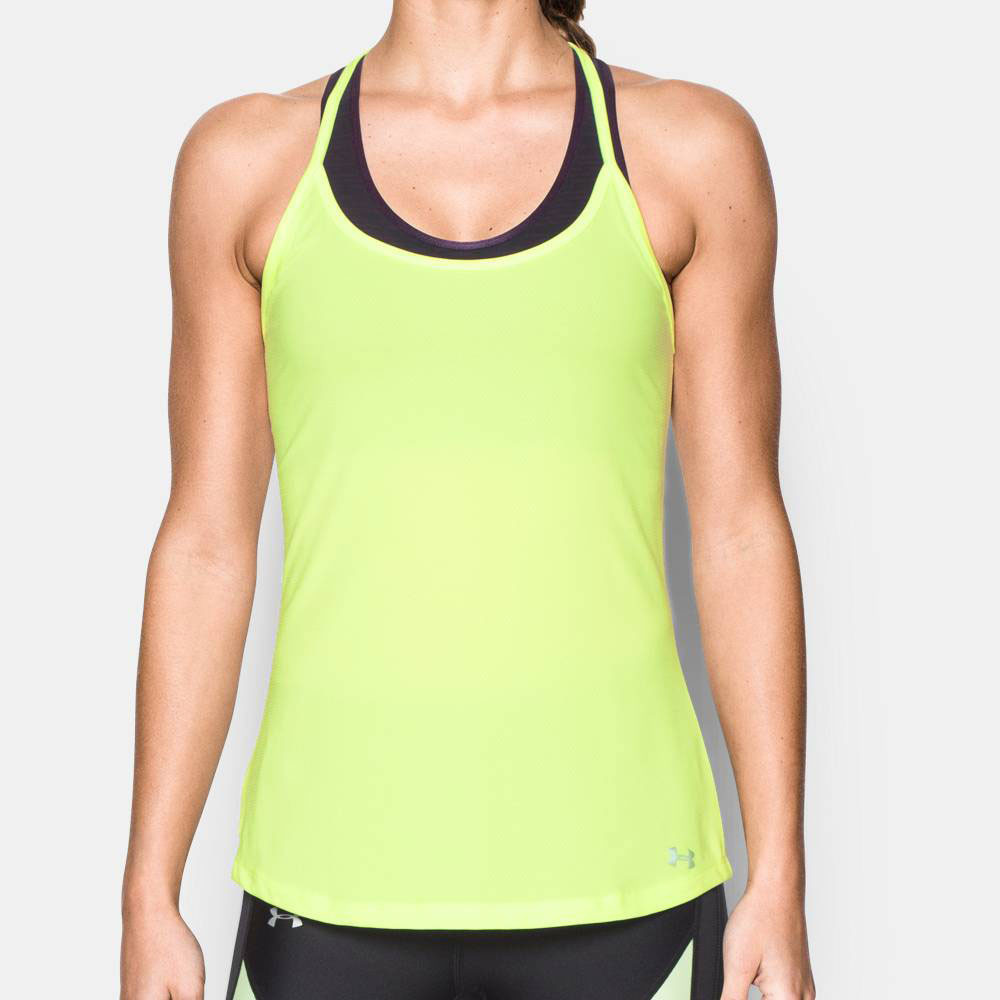 under armour fly by womens yellow racerback sleeveless. Black Bedroom Furniture Sets. Home Design Ideas