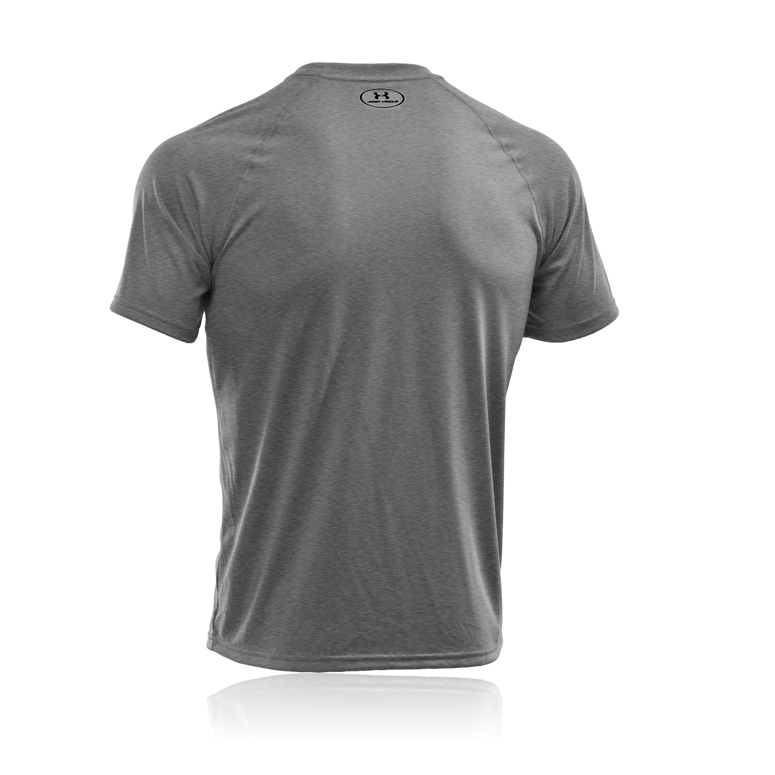 Under Armour Tech Mens Grey Breathable Short Sleeve Sports