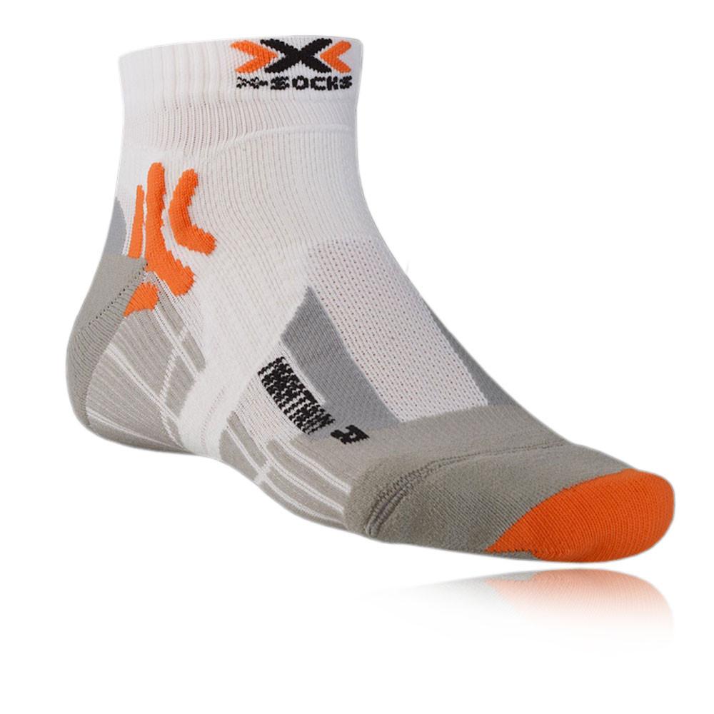 X-Bionic Marathon Mens White Anklet Running Training ...